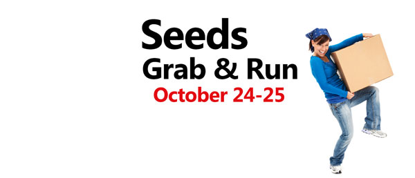 Fall Grab & Run – Oct. 24 & 25