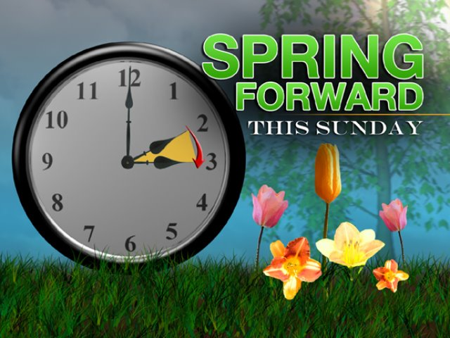 Don't forget…time change this weekend!