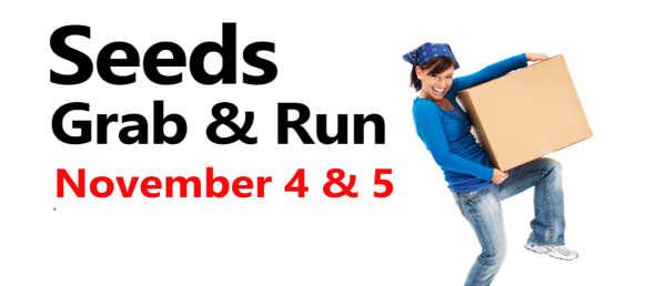 Fall Grab & Run – Nov. 4 & 5