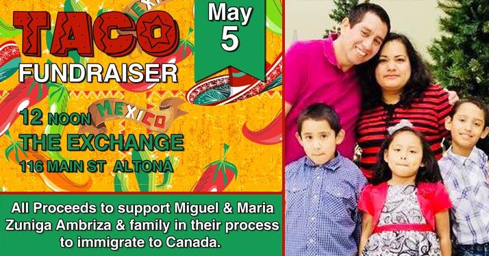 Taco Fundraising Lunch May 5 – Maria & Miguel update